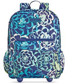 9370658aaaf9 Vera Bradley Lighten Up Rolling Backpack Handbags   Accessories - Macy s