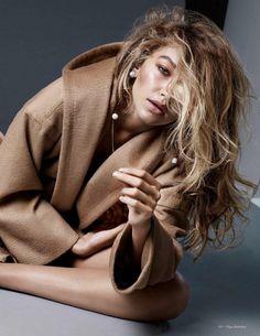 Gigi Hadid in a #maxmara coat for Vogue Netherlands November 2015