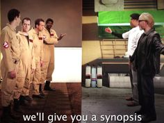 """YouTube series """"Epic Rap Battles of History"""" pits the """"Ghostbusters"""" characters against the cast of the Discovery Channel reality science show """"MythBusters."""""""