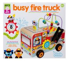 ALEX Toys – ALEX Junior, My Busy Fire Truck Baby Activity Center with (8) Activities, 1997F