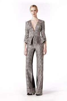Raffia linen stripe jacket with peplum. This jacket comes fully lined and it had a centre front hook and eye corset style closure. This jacket can be worn with Peplum Jacket, Striped Jacket, Corset, Jumpsuit, Jackets, Dresses, Style, Fashion, Overalls