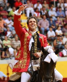 Bullfighting in Portugal - Horse rider  Marcos Bastinhas