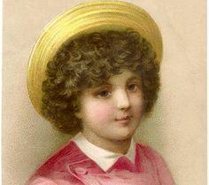 Pretty Child with Straw Hat Image!