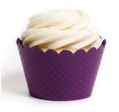 Emma Royal Purple Cupcake Wrappers #theweddingoutlet