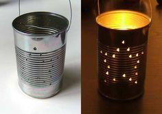 Tin can lantern. Green Kid Crafts
