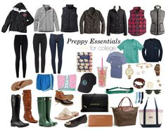 Essentials for a Preppy College Closet: Broken down by Category!