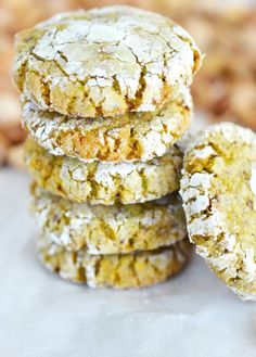 Amazing Italian Pistachio Cookies Easy recipe for Italian Pistachio Cookies just like Nona used to make! The pistachio/lemon combo is so delicious and as a bonus, they're gluten free! Recipe adapted from Scarpetta Dolcetto. Cookie Desserts, Dessert Recipes, Recipes Dinner, Gourmet Desserts, Baking Desserts, Plated Desserts, Italian Pastries, French Pastries, Italian Bakery