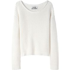 Acne Sapata Solid Waffle Pullover ($300) ❤ liked on Polyvore