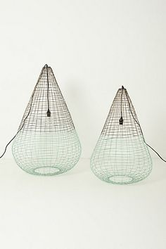 Woven Wire Pendant Lamp with dipped color detail by Paola Navone via Anthro..love