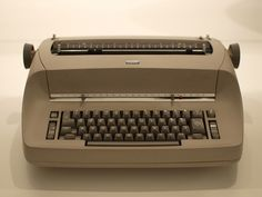 IBM Selectric - state of the art back in the 70's.  you could change the font by changing a ball that the letters were on - big advance from previous machines