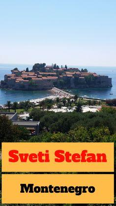 Viagem para Sveti Stefan, um dos mais famosos cartões postais de Montenegro. Montenegro, Bósnia E Herzegovina, Adriatic Sea, We Are The World, Albania, Coast, River, Country, Places
