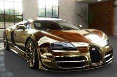 Bugatti Gold Plated is Absolutely dazzling..http://svpicks.com/bugatti-veyron-photos-hd/ #supercar #bugatti