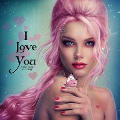 I love You by EstherPuche-Art.deviantart.com on @DeviantArt