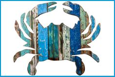 CRAB HANDCRAFTED COASTAL WALL ART