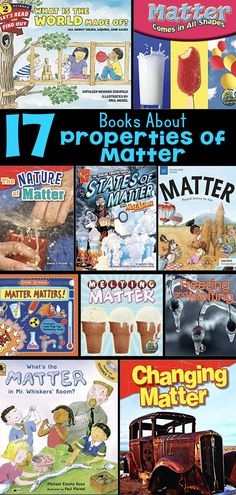 Elementary picture books about the properties of matter, states of change, and reversible and irreversible changes of matter. These books align with the second grade NGSS and allow teachers to build students' background knowledge about. Second Grade Science, Middle School Science, Elementary Science, Science Classroom, Teaching Science, Science For Kids, Science Activities, Science Experiments, Earth Science