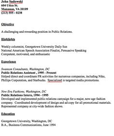 Example Of Public Relations Resume - http://resumesdesign.com/example-of-public-relations-resume/