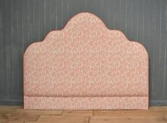 Bespoke Upholstered Headboard with contrast piping Headboard Shapes, Bed Headboard Design, Twin Headboard, Headboards For Beds, Small Girls Bedrooms, Period Living, Upholstered Beds, Slipcovers