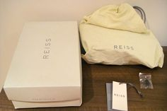 Never been worn REISS (Style Name OTTO, Style Code: 85/2017) women's shoes.  They come with a Reiss dustbag, a spare pair of heel tips and the Reiss shoe box.  They are made of real leather (as written on the sole of the shoe) and they have a black heel, with the main shoe having a nude and brown snake skin effect.  The heel is 4.5 inches high, with a small platform of 0.5 inches.  They lace up and tie just on or below the ankle.  The RRP is £169. Women's Shoes, Reiss Style, Reiss Fashion, Shoe Box, Innovation Design, Black Heels, Snake Skin, Real Leather