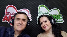 Il tenore Luca Lupoli ed il soprano Olga De Maio  a Radio Amore