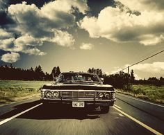 Back in Black. The Supernatural Impala. Yeah, I could live in it. Chevrolet Impala 1967, Impala 67, Supernatural Impala, Supernatural Fandom, Supernatural Bunker, Supernatural Imagines, Supernatural Wallpaper, Jensen Ackles, Superwholock