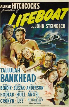 A great movie poster! Lifeboat is an Alfred Hitchcock classic based on a story by John Steinbeck starring an amazing ensemble cast. Ships fast. 11x17 inches. Check out the rest of our thrilling select