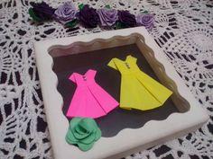Quadro de Origami Mãe e Filha