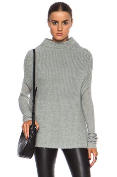 RICK OWENS | Crater Knit Cashmere-Blend Sweater in Tear