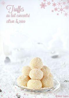 Truffes au lait concentré et noix de coco Desserts Français, French Desserts, Dessert Recipes, Coco, Yummy World, Edible Gifts, French Pastries, Homemade Chocolate, Cakes And More