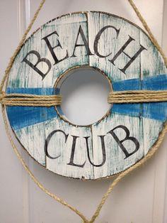 Life Preserver Ring Sign Beach House Wall Art Nautical Coastal