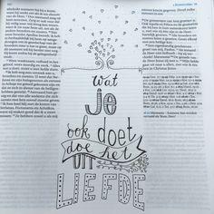 1corinthe Bijbeljournaling Biblejournaling