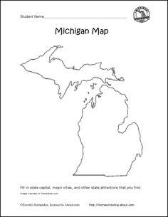Michigan Printables: Michigan State Map