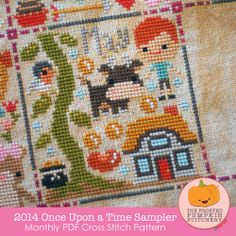 This is so cute, seriously thinking about it!! -- Image of 2014 Once Upon A Time Sampler PDF Cross Stitch Pattern