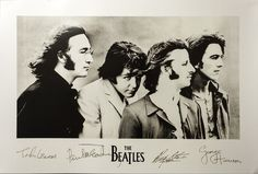 The Beatles White Poster W Signatures Rare Out Of Print 4999