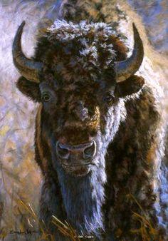 Bison painting by Deb Gengler-Copple