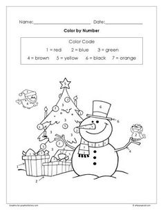 287 Best Winter /Christmas Color by Number Pages for