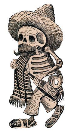 Koch Tattoo, Cholo Tattoo, Day Of Dead Tattoo, Mexican Art Tattoos, Mexican Artwork, Tattoos For Women Half Sleeve, Mexico Art, Dark Art Drawings, Skull Tattoo Design