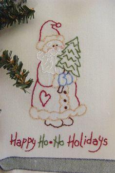 DIY:   Happy Ho*Ho Holiday Tea Towel