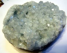 Celestite Geode Crystal cluster celestine  pale by CoyoteRainbow, $50.00