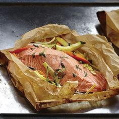 Salmon in Parchment - Cleanse Friendly as Long as You Don't use Tomatoes #cleaneating #salmon