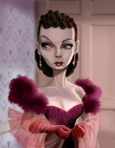 bob doucette caricature | refuse to paint michael jackson so here is vivian leigh