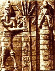Ninhursag1 - La dea Ninhursag (detta anche Ki o Aruru) presso i Sumeri rappresentava la Terra, e formava con il dio An la montagna cosmica An-Ki Wikipedia