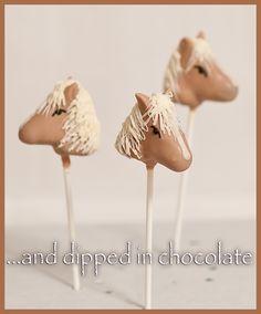 horses cake pops