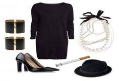 Disfraz Coco Chanel,  encuentra más opciones en disfraces caseros para este Halloween aquí..http://www.1001consejos.com/8-sencillos-disfraces-caseros-para-mujer/