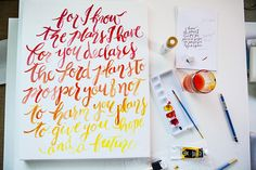 Graduation Gifts Thinking of a DIY graduation gift idea? How about painting a quote on canvas that could encourage the graduate with? This fun ombre painting tutorial… Diy Graduation Gifts, Ombre Paint, Painting Quotes, Quote Art, Canvas Letters, Hand Lettering Tutorial, Cool Lettering, Canvas Quotes, Watercolour Tutorials