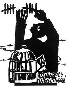 Amnesty posters: 1969 GENERAL Amnesty International Poster, Prisoner of Conscience, 1969 (Netherlands) Designed by Joop Lieverst, a General Amnesty International poster depicting a Prisoners of Conscience Protest Posters, Protest Art, Political Posters, Black And White Posters, Black And White Design, Graphic Design Posters, Graphic Design Illustration, Graphic Art, Amnistie International