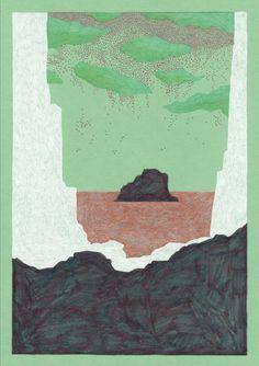 Art Graphique, Mars, Graphic Art, Illustrations, Painting, Color, Caves, Felt, How To Paint