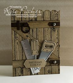 Great Masculine Card using the Stampin' Up! Nailed It Stamp Set and Framelits