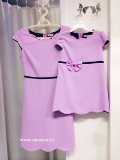 Tím Mom And Baby Dresses, Mom And Baby Outfits, Family Outfits, Toddler Girl Dresses, Toddler Outfits, Kids Outfits, Mom Daughter Matching Outfits, Mother Daughter Fashion, Dress Anak