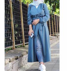Moda Hijab, Long Tunic Tops, Hijab Outfit, Hijab Fashion, Duster Coat, Hijab Styles, Hijabs, Couture, Womens Fashion