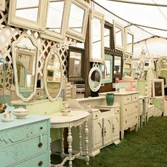 Flea Market + French furniture = Heaven! Wow!!! @Sara Moore shall we rob a bank, steal a budget truck and do a field trip?! Lol